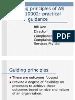 As ISO 10002 Guiding Principles-Bill Dee