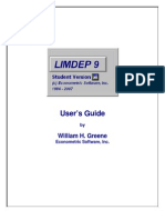 LIMDEP Short Student Manual 9.0