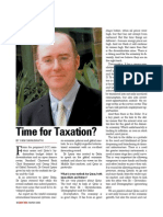Time for Taxation