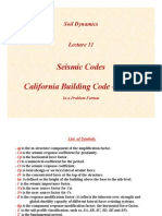 SD Lecture11 Seismic Codes I