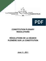 Constitution Plenary Resolutions 2011