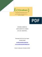 Informe socio ambiental asentamiento Eva Peron San Luis.Argentina