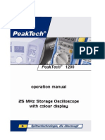 Peaktech 1200 User Manual