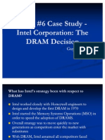 Intel DRAM Case Study Presentation
