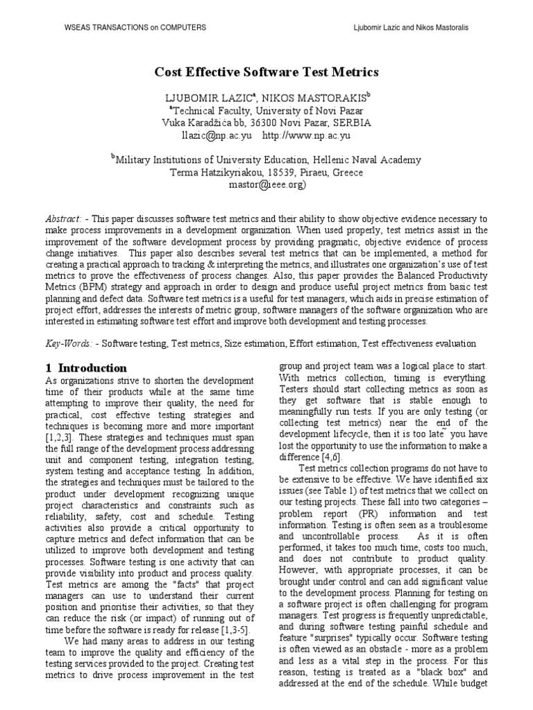 costeffectivesoftwaretestmetrics 2008