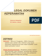 Aspek Legal Dokumentasi Keperawatan