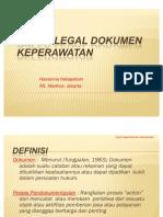 Aspek Legal Dokumentasi Keperawatan