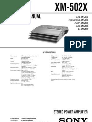 xm-502x | Inductor | Power SupplyScribd