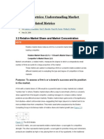 Marketing Metrics - Understanding Market Share and Related Metrics
