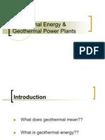 Geothermal Energy and Geothermal Power Plants