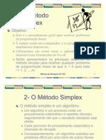 Aula 2 o Metodo Simplex