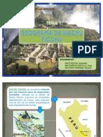 Geografia de Machu Picchu - Diapositivas
