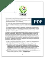 Comunicado Oficial - Finanzas