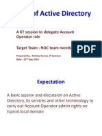 Basic of AD for NOC Team