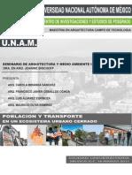 POBLACION Y TRANSPORTE en Un Ecososistema Urbano