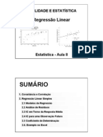 Regressão Linear - Exemplo no EXCEL