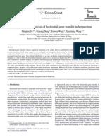 Detection and Analysis of Horizontal Gene Transfer in Herpes Virus
