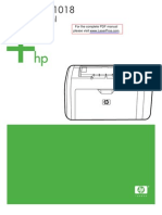 HP LJ 1018 Manual Toc