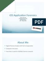 CEIC 2011 - iOS Application Forensics