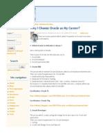 Why I Choose Oracle as My Career- - Oracle FAQ