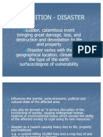 Definition - Disaster