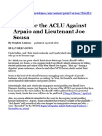 Victory for ACLU Against Arpaio