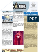 """2011-06-12 Boletín Semanal """"El conquistador"""""""