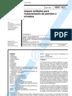 NBR_7821_NB_89_-_Tanques_soldados_para_armazenamento_de_petroleo_e_derivados