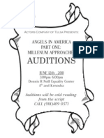 Angels Audition Notice