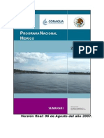 Programa Nacional Hídrico 2007 2012 060807