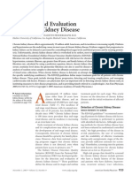 Detection and Evaluation of Chronic Kidney Disease
