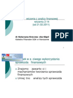 Analiza Finansowa Prezentacje Lato 2010-2011