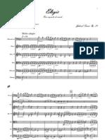 Elegia de Faure para violonchelo y orquesta (Transcripcion Para Orquesta de Cuerda-2011)
