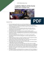 Princess Isabella - Return of the Curse - Walk Through & Strategy Guide - wWw.fishBoneGames