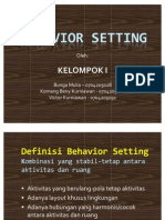 Behavior Setting