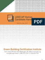 LEED AP Homes Candidate Handbook