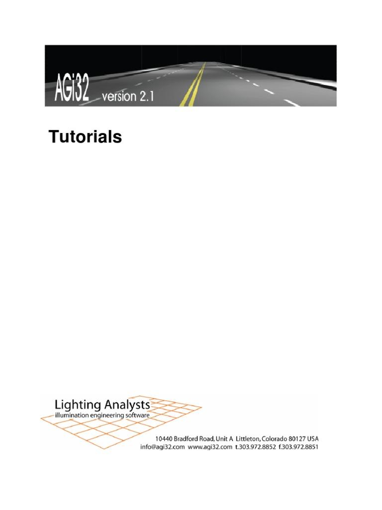 AGI32 v2dot1 Tutorials | Rendering (Computer Graphics) | Button