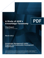 A Study of ADB Knowledge Taxonomy