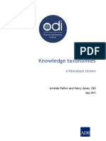 ODI and ADB Taxonomy Literature Review
