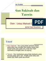 Nun Sakinah Dan Tanwin