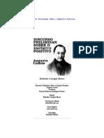 Augusto Comte - Discurso Preliminar Sobre o Espirito Positivo