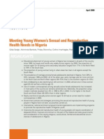 Guttmacher Institute Apr 2009 Sexual and Reproductive Health Needs in Nigeria