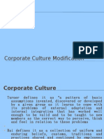 Corporate Culture Modification