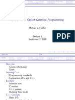 Object Oriented Prog