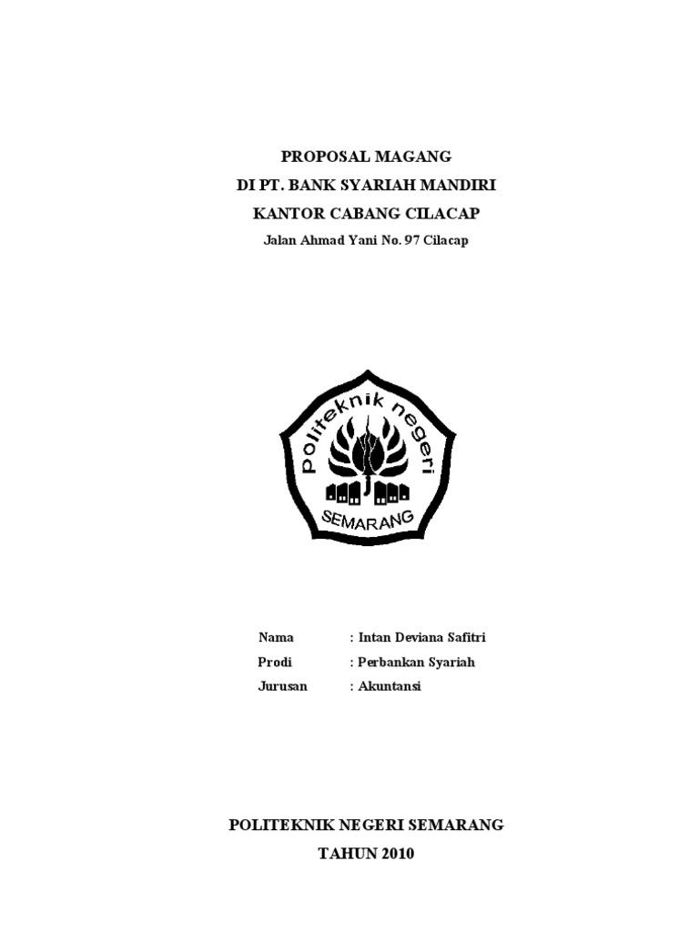 Proposal Magang Bsm Cilacap