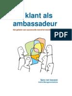 E-Book Uw Klant Als Ambassadeur