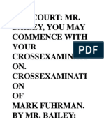 Cross Examination of Fuhrman by Bailey