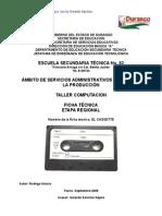 Análisis de Objeto Técnico EL CASETTE