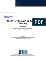 The Five Doings of Software Testing