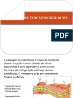 Transportes transmenbranares